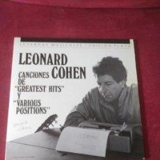 Discos de vinilo: LEONARD COHEN 2 LP GREATEST HITS + VARIOUS POSITIONS. Lote 84835871