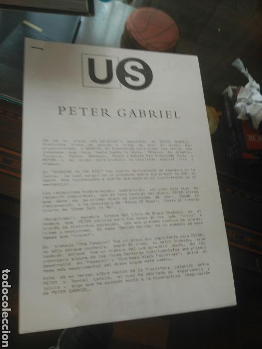 Discos de vinilo: Peter Gabriel US LP doble (UK edition con nota de prensa oficial) - Foto 2 - 79014242