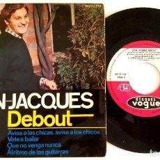 Discos de vinilo: ? EP JEAN JACQUES DEBOUT (SPAIN 1965) VINILO 45 RPM ?. Lote 84845768