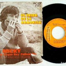 Discos de vinilo: ? EP MICKY - EL CHICO DE LA ARMONICA (SPAIN 1971) VINILO 45 RPM ?. Lote 84846800