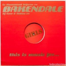 Discos de vinilo: BAXENDALE – MUSIC FOR GIRLS LE HAMMOND INFERNO / DJ COCO & AUTAN. Lote 84863808