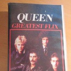 Discos de vinilo: QUEEN GREATEST FLIX CINTA VHS VIDEOS MUSICALES. Lote 84869020