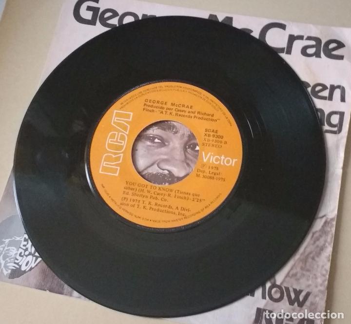 Discos de vinilo: George Mc Crae - It´s Been so Long - You got to know - RCR - 1975 - Foto 3 - 82976380