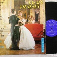 Discos de vinilo: VALSES VIENESES ORQUESTA VIENESA DE CONCIERTOS LP VNILOS MADE IN SPAIN 1966. Lote 84884060