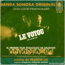 Discos de vinilo: FRANCIS LAI – LE VOYOU (EL CANALLA) - SG SPAIN 1971 - UNITED ARTISTS RECORDS H684. Lote 84898724