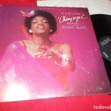 Discos de vinilo: EVELYN CHAMPAGNE KING MUSIC BOX LP 1979 RCA EDICION AMERICANA USA. Lote 84903920