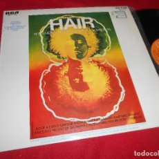 Discos de vinilo: HAIR THE AMERICAN TRIBAL LOVE ROCK MUSICAL BSO OST MICHAEL BUTEER LP 1969 RCA EDICION ESPAÑOLA SPAIN. Lote 84908348