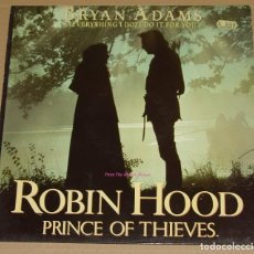 Discos de vinilo: ROBIN HOOD, PRINCE OF THIEVES - MÚSICA DE BRYAN ADAMS - BANDA SONORA ORIGINAL - MAXI SINGLE 4 TEMAS. Lote 84910872