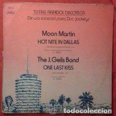 Discos de vinilo: TEMAS RÁPIDOS DISCOTECA: MOON MARTIN, J. GEILS BAND, THE , MINK DEVILLE, BOB SEGER, 12' CAPITOL 1979. Lote 84918924