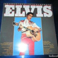 Discos de vinilo: LP-VINILO-ELVIS-20 COUNTRY HITS REMEMBER-20 TEMAS-GRAN CANYONMADE IN WEST GERMANY-VER FOTOS. Lote 84943808