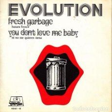 Discos de vinilo: EVOLUTION - FRESH GARBAGE - SINGLE DE VINILO RARSIMO ROCK PROGRESIVO - PROMOCIONAL. Lote 84966588