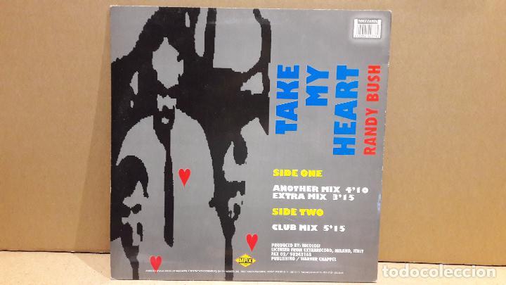 Discos de vinilo: RANDY BUSH. TAKE MY HEART. MAXI-SG / MAX MUSIC - 1993 / MBC. ***/*** - Foto 2 - 84924880