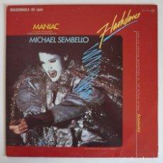 Discos de vinilo: MAXI SINGLE - MANIAC - MICHAEL SEMBELLO - FLASHDANCE B.S.O. - 1983 FONOGRAM SPAIN. Lote 85019708
