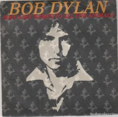 Discos de vinilo: BOB DYLAN / MAN GAVE NAMES TO ALL THE ANIMALS / WHEN HE RETURNS (SINGLE PROMO ESPAÑOL 1979). Lote 85020836