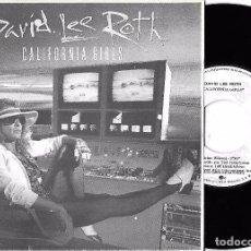 Discos de vinilo: DAVID LEE ROTH: CALIFORNIA GIRLS / CALIFORNIA GIRLS (REMIX VERSION). Lote 85033004