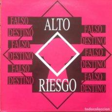 Discos de vinilo: ALTO RIESGO - FALSO DESTINO . 1993 LUCAS RECORDS . Lote 85050992