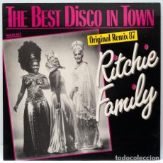 Discos de vinilo: RITCHIE FAMILY – THE BEST DISCO IN TOWN (ORIGINAL REMIX 87 ) / AMERICAN GENERATION (PROMO). Lote 85054900