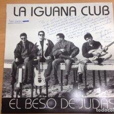 Discos de vinilo: MAXISINGLE LA IGUANA/EL BESO DE JUDAS- TAN SOLO VIVIR FIRMADO POR SU COMPONENTES . Lote 85061056
