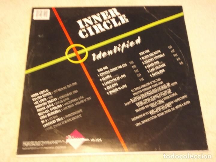 Discos de vinilo: INNER CIRCLE ( IDENTIFIED ) FLORIDA-USA 1989 LP33 VISION RECORDS - Foto 2 - 85072132