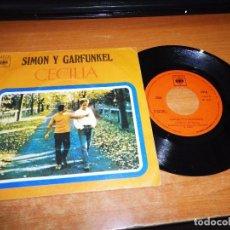 Discos de vinilo: SIMON & GARFUNKEL CECILIA / EL UNICO MUCHACHO QUE VIVE EN NEW YORK SINGLE VINILO 1970 ESPAÑA 2 TEMAS. Lote 85082692