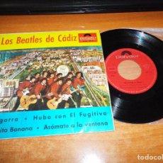 Discos de vinilo: LOS BEATLES DE CADIZ LA GARRA / HUBO CON EL FUGITIVO / JUANITA BANANA EP VINILO 1966 4 TEMAS. Lote 85083044