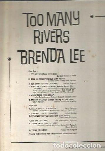 Discos de vinilo: BRENDA LEE LP SELLO DECCA EDITADO EN USA. - Foto 2 - 85096944