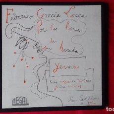 Discos de vinilo: 2 LP POR LA BOCA DE SU HERIDA YERMA. FEDERICO GARCIA LORCA-JEAN COCTEAU-EMI-1958. Lote 85114520