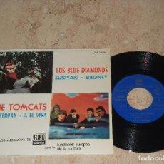 THE TOMCATS, YESTERDAY, A TU VERA. LOS BLUE DIAMONDS, SUKIYAKI, SIBONEY EP 66 COMO NUEVO