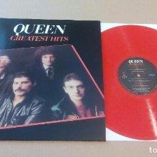 Discos de vinilo: QUEEN - GREATEST HITS (LP REEDICIÓN, VINILO ROJO, EMI EMTV30) NUEVO. Lote 183684083