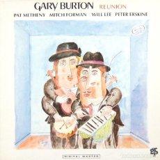 Discos de vinilo: GARY BURTON - REUNION (LP, GPR SUIZA 1990). Lote 85117128