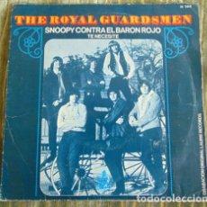 Discos de vinilo: THE ROYAL GUARDSMEN ?– SNOOPY CONTRA EL BARON ROJO - SINGLE 1967. Lote 85126324