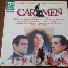 Discos de vinilo: CARMEN DE GEORGES BIZET EDICIÓN ESPECIAL DESPLEGABLE. VINILO LP. BSO PELÍCULA DE FRANCESCO ROSI. Lote 85127204