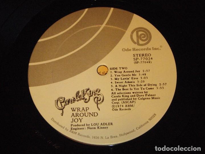 Discos de vinilo: CAROLE KING ( WRAP AROUND JOY ) USA - 1974 LP33 ODE RECORDS - Foto 6 - 85134452