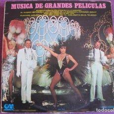 Discos de vinilo: LP - THE BROADWAY SOUND ORCHESTRA - MUSICA DE GRANDES PELICULAS (SPAIN, GRAMUSIC 1973). Lote 85146076