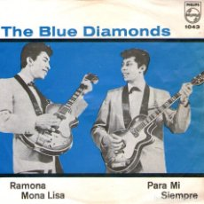 Discos de vinilo: THE BLUE DIAMONDS - EP VINILO 7'' - RAMONA + 3 - EDITADO EN MÉXICO - PHILIPS 1964. Lote 85148012