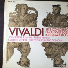 Discos de vinilo: SEIS CONCIERTOS. VIVALDI. Lote 85150368