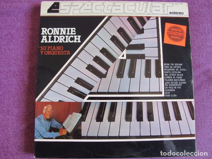 LP - RONNIE ALDRICH SU PIANO Y ORQUESTA - ESPECTACULAR (SPAIN, COLUMBIA 1982) (Música - Discos - LP Vinilo - Orquestas)