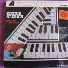 Discos de vinilo: LP - RONNIE ALDRICH SU PIANO Y ORQUESTA - ESPECTACULAR (SPAIN, COLUMBIA 1982). Lote 85150500