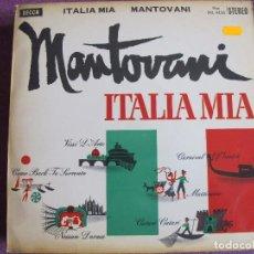 Discos de vinilo: LP - MANTOVANI - ITALIA MIA (SPAIN, DECCA RECORDS 1961). Lote 85153728