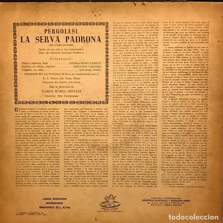 Discos de vinilo: LP argentino de Orquesta del Teatro Alla Scala año 1956 - Foto 2 - 85174944