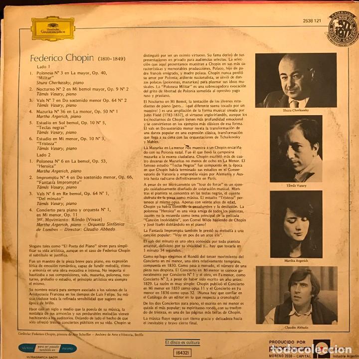 Discos de vinilo: LP argentino de artistas varios Éxitos de Chopin año 1977 - Foto 2 - 85176108
