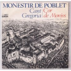 Discos de vinilo: MONESTIR DE POBLET CANT GREGORIA LP. Lote 85198020