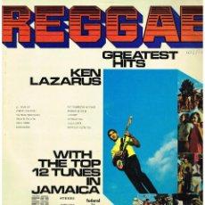 Discos de vinilo: KEN LAZARUS - REGGAE. GREATEST HITS - LP. Lote 85200452