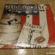 Discos de vinilo: MOLOKO MEN, DRUNK AND POOR. VINILO LP CLOCKWORK TRADITIONAL SKINHEADS USA 1998 VULTURE RECORDS (C1). Lote 85202908