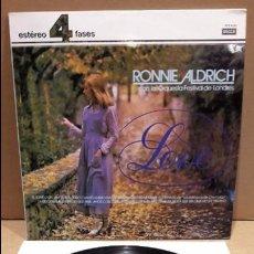 Discos de vinilo: RONNIE ALDRICH CON LA ORQUESTA DEL FESTIVAL DE LONDRES. LP / DECCA - 1977 / MBC. ***/***. Lote 85210800