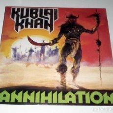 Discos de vinilo: LP KUBLAI KHAN - ANNIHILATION. Lote 49642197