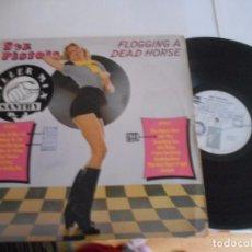 Discos de vinilo: LP DE SEX PISTOLS FLOGGING A DEAD HORSE-(UK,1979)-PORT.G-VINILO VG. Lote 85249452
