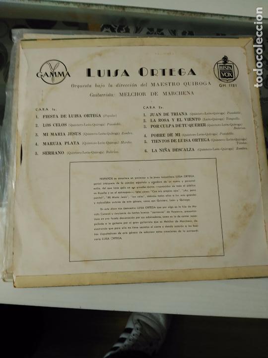 Discos de vinilo: -FIESTA DE LUISA ORTEGA lp rarísimo unico - Foto 2 - 85277208