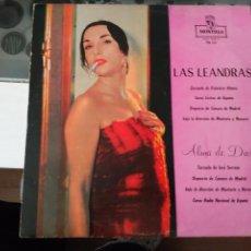 Discos de vinilo: LP LAS LEANDRAS + ALMA DE DIOS ( PASATIEMPO COMICO + ZARZUELA ). Lote 85278028