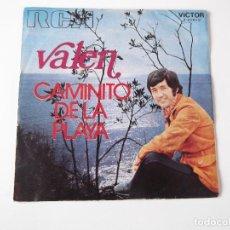Discos de vinilo: VALEN - CAMINITO DE LA PLAYA. Lote 85289020